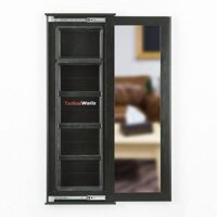 picture of 60-inch Concealed Storage Wall Mirror with Hidden Gun Compartment